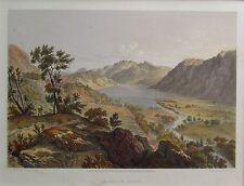 Acqua Crummock - 1859 Lithograph-J B PYNE / T Picken