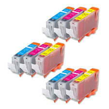 9 COLOR Ink Set + Chip for Canon Series CLI-8 iP4200 iP4300 IP4500 MP500 MP530