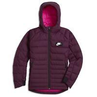 Nike 856080-609 B Nsw Jkt Hd Dwn Fill Guild550 Kids Jacket