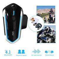 Bluetooth 4.1 50m Étanche Sans Fil Interphone Casque de Moto Intercom Headset