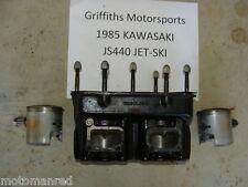 85 86 87 KAWASAKI JS440 JET SKI JS 440 cylinder block pistons cylinders engine