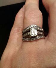 Tacori 1.04 ct Emerald Cut Diamond Solitaire Platinum*PLUS 2 FREE DIAMOND BANDS!