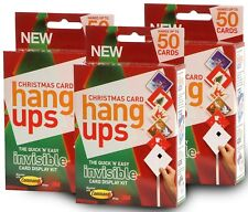 Christmas Adhesive Velcro Card Hang ups Kit Invisible Card Holder for 150 Cards