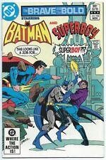 BRAVE AND THE BOLD #192 Nov 1982 DC Comics VF/NM 9.0 W SUPERBOY meets BATMAN!