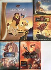 The Lion King Set 3 DVDs 2003 Platinum Edition - 1 Book & 1 Cd