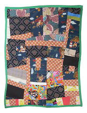 Handmade Baby Quilt with Green Bias