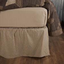 King Queen Twin Cotton Bed Skirt Dust Ruffle Farmhouse Bedding Split Corners