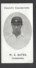 TADDY - COUNTY CRICKETERS - W E BATES, YORKSHIRE