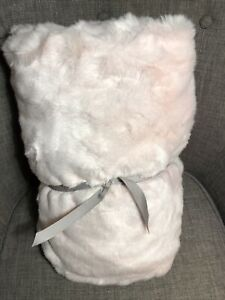 Pottery Barn Kids Pink Faux Fur Anywhere Beanbag Round Slipcover ~ Plush Storage