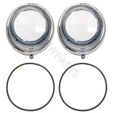 VW Beetle Porsche 356 Left and Right Clear Headlight Assemblies with Seals Kit