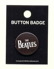 The Beatles White Logo 25mm Button Badge Pin Official Carded