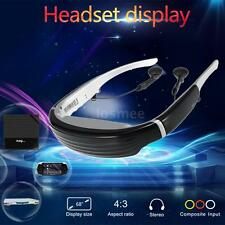 Full-color Viewer Head Mount LCD Display Virtual Screen Video Glasses AV in O4V2