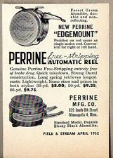 1952 Print Ad Perrine Automatic Fly Fishing Reels Minneapolis,MN