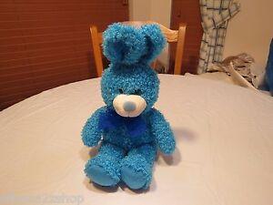 Aurora people pals RARE blue turquoise bunny rabbit stuffed animal bean beans