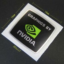 "NVIDIA STICKER - "" GRAPHICS BY NVIDIA Sticker 18mm x 18mm "" - NEW & GENUINE"