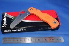 Spyderco Rescue 79mm Lightweight Orange - Serrated Blade YSC45SOR