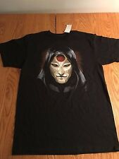 "NEW NWT THE LEGEND OF KORRA ""AMON MASK"" T-Shirt ANIME MEDIUM 100% COTTON BLACK"