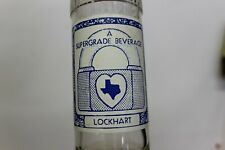 Lockhart Beverages Soda Bottle, Coca Cola Bottling Co. Lockhart, Texas 1939