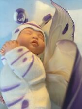 Anne Geddes Purple Butterfly Baby doll 9 Inches