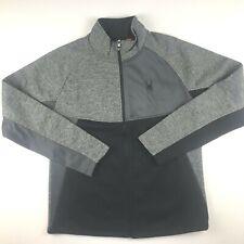 Spyder Mens XL Polar Marble Gray Black Full Zip Sweater Jacket NWT $129