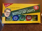 NIB Wembley 10 Beer Bottle Cap String Lights Flashing NO BATTERIES INCLUDED