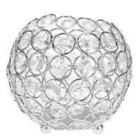 8/10/12/15cm Diamante Crystal Candle Sticks Tealight Hodler Tray Candlestick