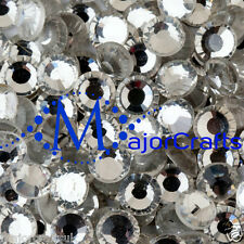 24pcs Crystal Clear 10mm dos plat SS50 une coupe en verre + strass Hotfix Strass