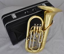 professional Gold Lacquer 3+1 Piston Euphonium JINBAO Brand horn Bb Key w/Case