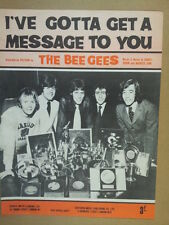 song sheet I VE GOTTA GET A MESSAGE TO YOU Bee Gees