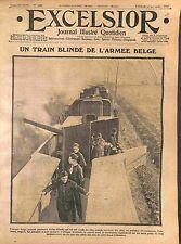 Artillerie Train Blindé Armée Belge Soldats Artilleurs Belgique  WWI 1914
