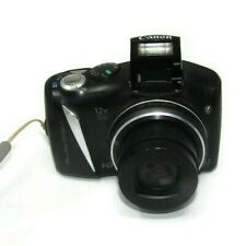 Canon PowerShot SX130 IS 12.1MP Digital Camera Black Battery Operated