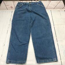 Jones Jeans Women Jeans Size 18W Blue Denim Medium Wash Carpenter Cargo - C144