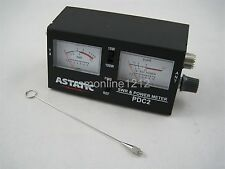 Astatic Pdc2 Dual Meter Swr / Power / Field Strength Cb Ham Radio Meter