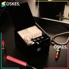 VIP Gift Vanity Cotton Pads Box Cosmetic Holder Black Acrylic