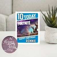Personalised Fortnite Gaming Battle Royal Birthday Card - A5 Gloss Finish V2P
