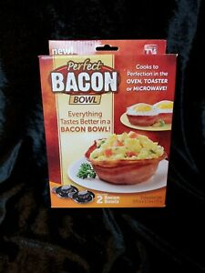 Bacon Bowl, As Seen on TV   Perfect Bacon Bowl,  2 Bowls New in Box