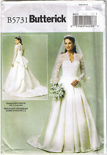 Wedding Dress Gown Bustle Pleated Skirt Train Sewing Pattern Plus 14 16 18 20