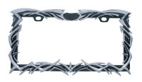 Chrome Tribal Flame License Plate Frame - Universal Car Truck