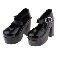1/3 BJD Black High Heels Shoes for  DOD Dollfie Doll Clothes Accessory