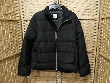 GAP Women's ColdControl Max Puffer Jacket  Black PrimaLoft Coat SIZE LARGE $128
