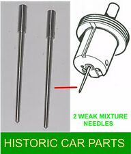 "MGB Roadster 1962-63 - 2 x WEAK MIXTURE No. 21 NEEDLES for 1½"" SU Carb AUD52 F/R"