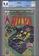 Man Called Nova #19 CGC 9.4 1978 Marvel Origin & 1st App Blackout: NEW Frame