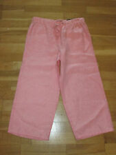 m&s coral pink pure linen crop trousers size 8 eu 36 leg 21 brand new with tags