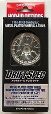 Malla Plateado Metal Tamiya 54021 Rueda Con Encolado Super Driftech (24mm/+2) nuevo en paquete