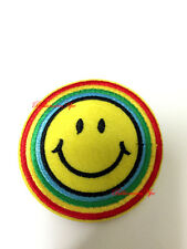 SMILING FACE SMILEY FACE SEW EMBROIDERY HEAT IRON ON PATCH APPLIQUE