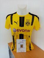BVB Trikot 16/17 Teamsigniert Borussia Dortmund Autogramm Unterschrift Puma 40
