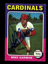Mike Garman Autograph Signed 1975 Topps Cardinals