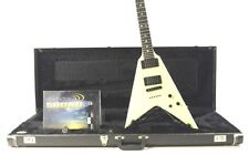 Carvin Ultra V Flying V Electric Guitar - White w/ OHSC