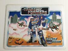 Transformers G1 1985 vintage PLACEMAT hasbro inc Artwork soundwave vs bumblebee