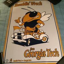 """1991 NCAA College Georgia Tech Ramblin Wreck Poster 24""""x 36"""" ROLLED"""